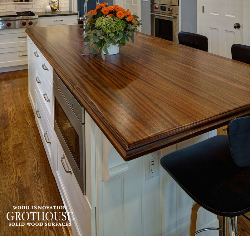Distressed Solid Wood Island Countertops for kitchen islands in any style kitchen