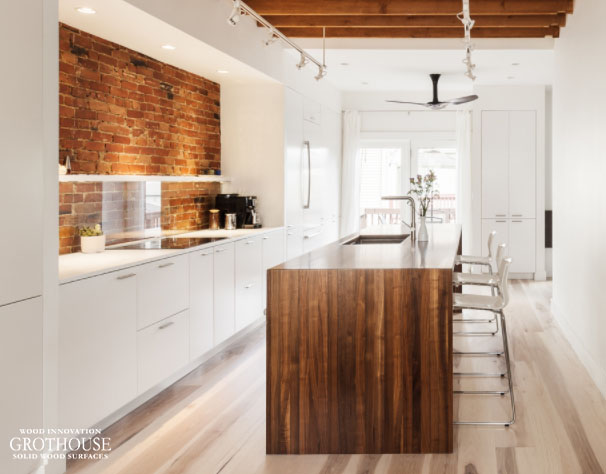 Exposed Brick Kitchen Design By Chris Greenawalt Of Bunker Workshop