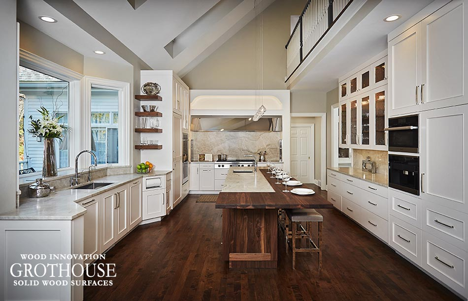 Wrap Your Kitchen Island Cabinetry in Wood to Make it a Focal Point and Add Warmth