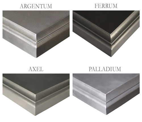 Cool-toned Anvil Metal Counter Finishes Available for Kitchen Countertops and Bar Tops