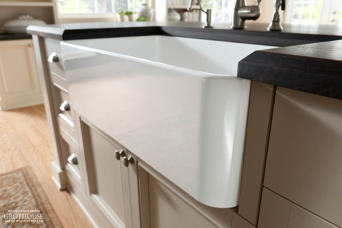 Wood Countertop Design Trend Wood Countertops and Apron Sinks