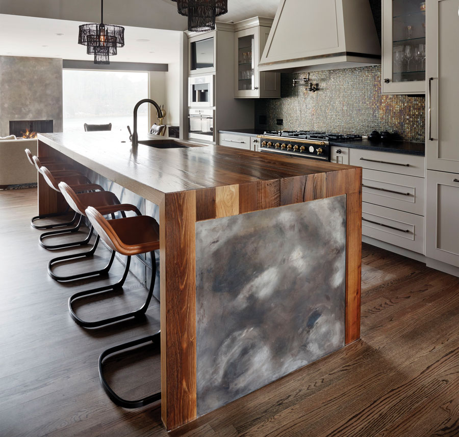 2019 Countertop Trends Reclaimed Wood Countertops for Kitchens crafted by Grothouse