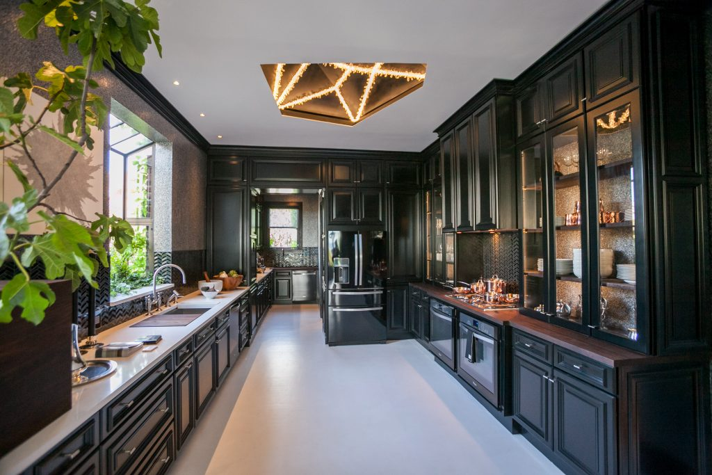 Black Kitchen Design by Steven Miller for House Beautiful Kitchen of the Year 2014