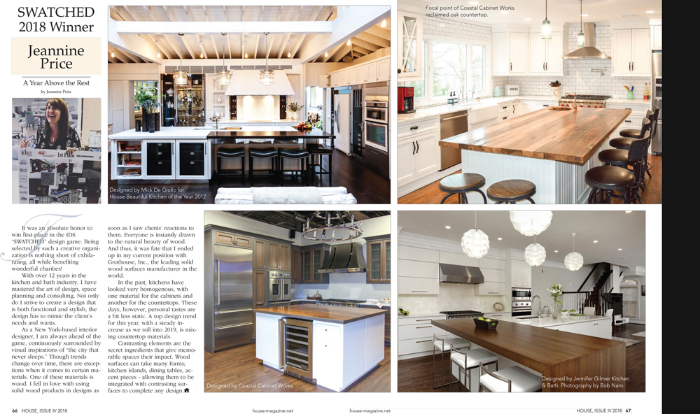Grothouse Wood Countertop Article in House Magazine Issue IV 2018