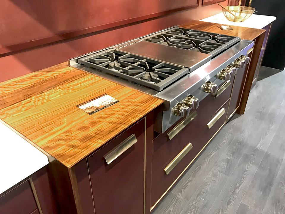 Grothouse Kensington™ Wood Pastore™ Table at KBIS 2019 in Plato Woodworking booth