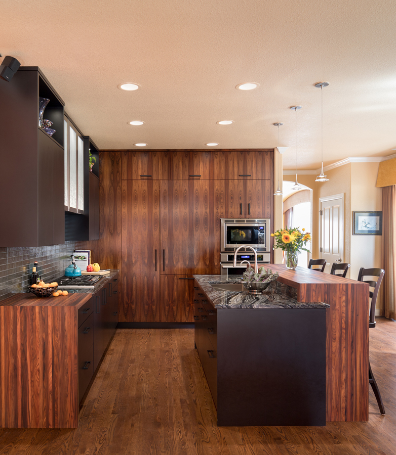 Bolivian Rosewood Pastore Countertops designed by Marcus Otten for a modern kitchen design