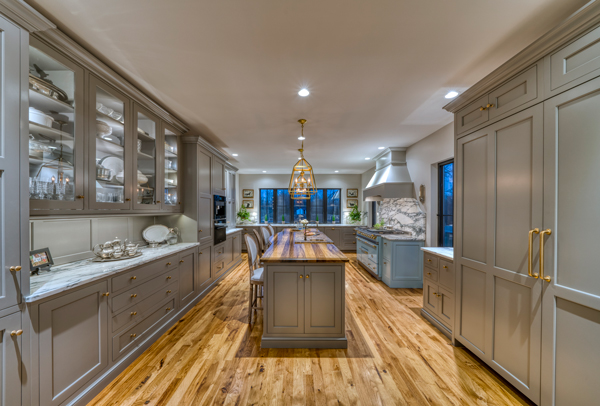 Stunning Kitchen Design with Wood Countertops on Kitchen Island