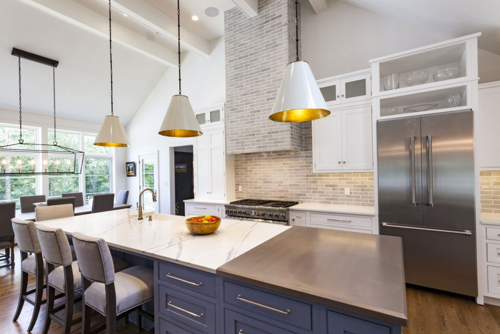 Kitchen Design with an Anvil Metal Kitchen Countertop