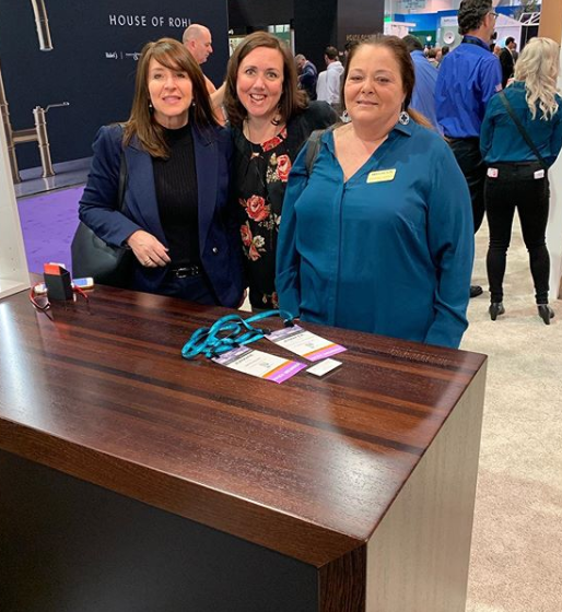 Grothouse Wood Countertop Representatives at KBIS 2020 Wellborn Cabinet Booth
