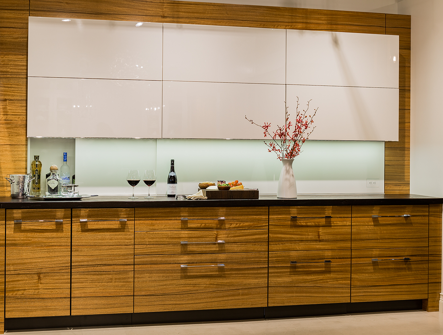 Wenge Hand Planed Wood Countertop designed by Venegas and Company