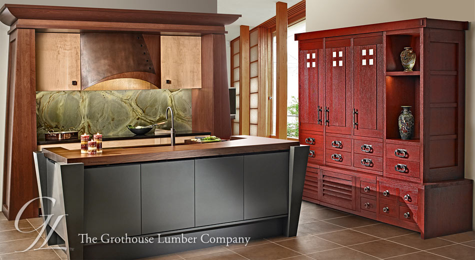 White Oak Wood Countertop design by Kitchen and Bath Concepts of Pittsburgh