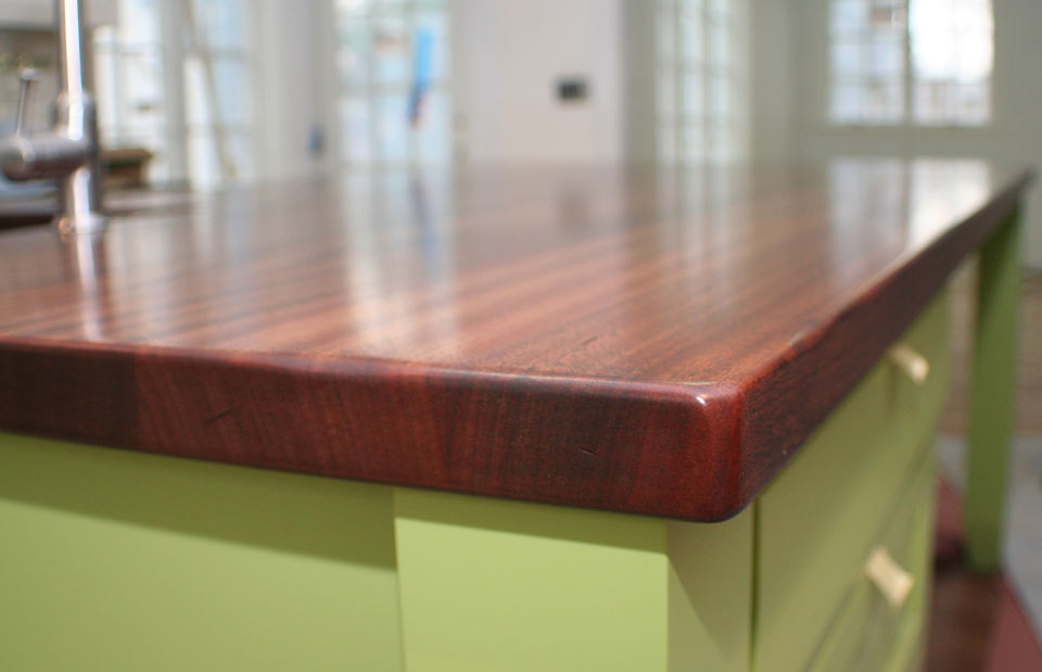 Sapele Mahogany Wood Counter 1 3/4 inches thick
