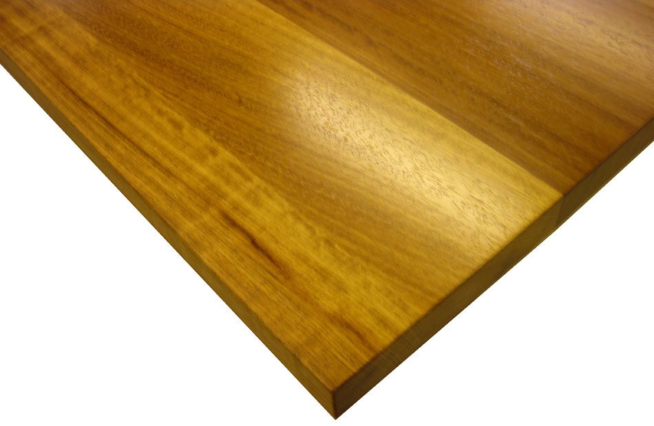 Iroko Wood Flat Grain Counter Photo