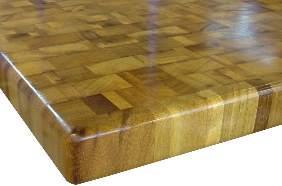 Photo of an Iroko Butcherblock