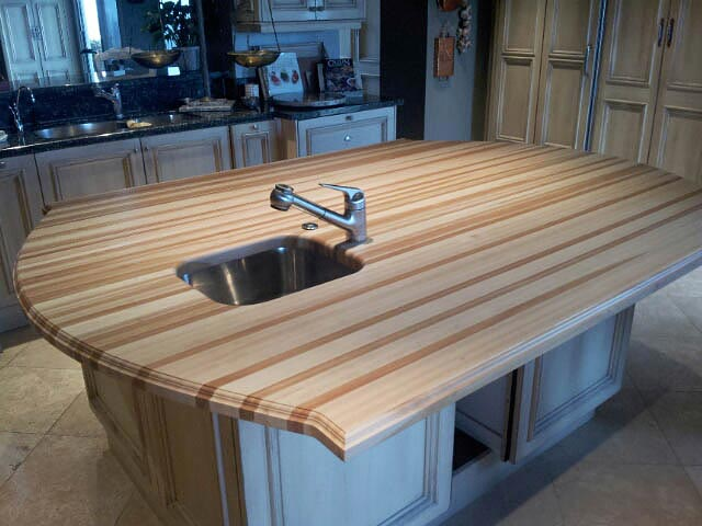 Beech Wood Countertop Arcs