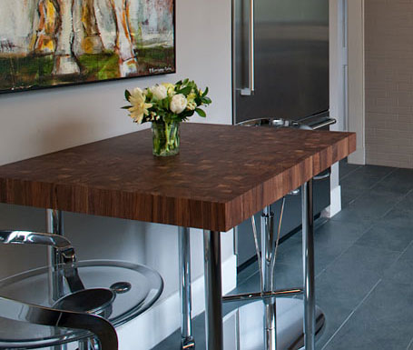 Butcher Block Dining Table designed by Aidan Design
