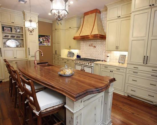 Walnut Wood Countertop Arcs by Grothouse