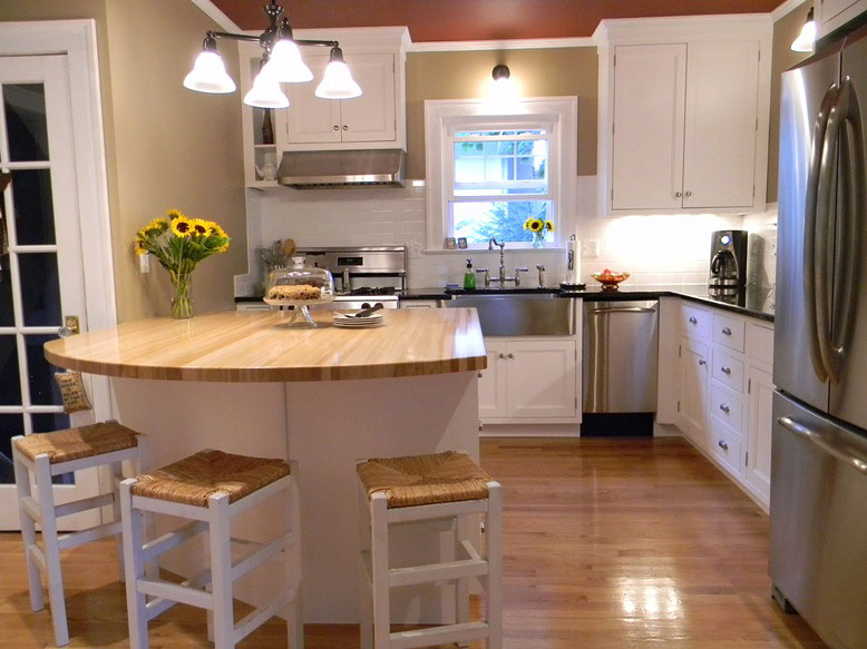 Grothouse Beech Wood Countertops used for kitchen island