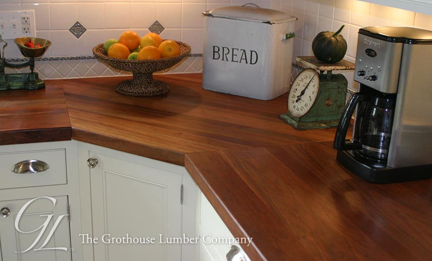 Edge Grain Cherry Kitchen Countertops