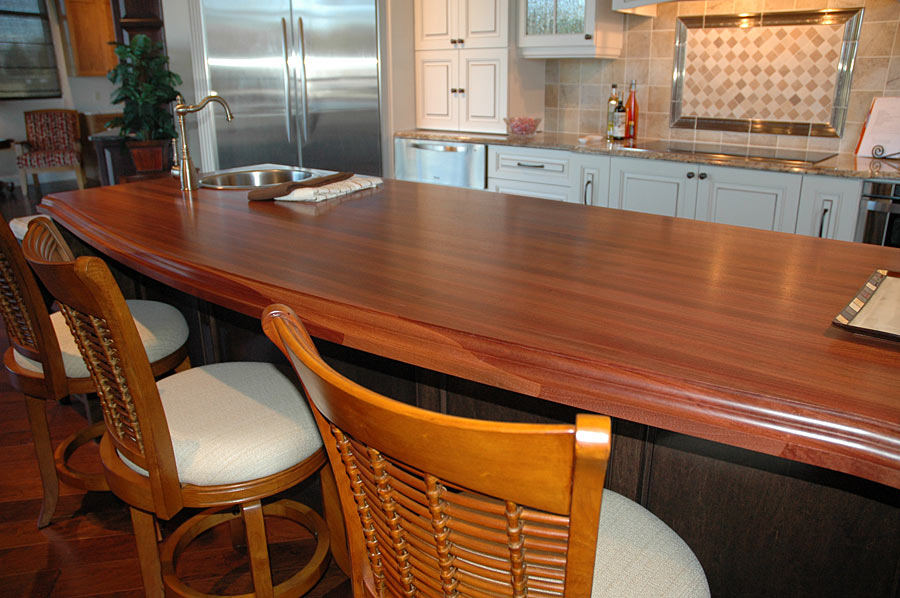 Santos Mahogany Countertops for Kitchen Islands