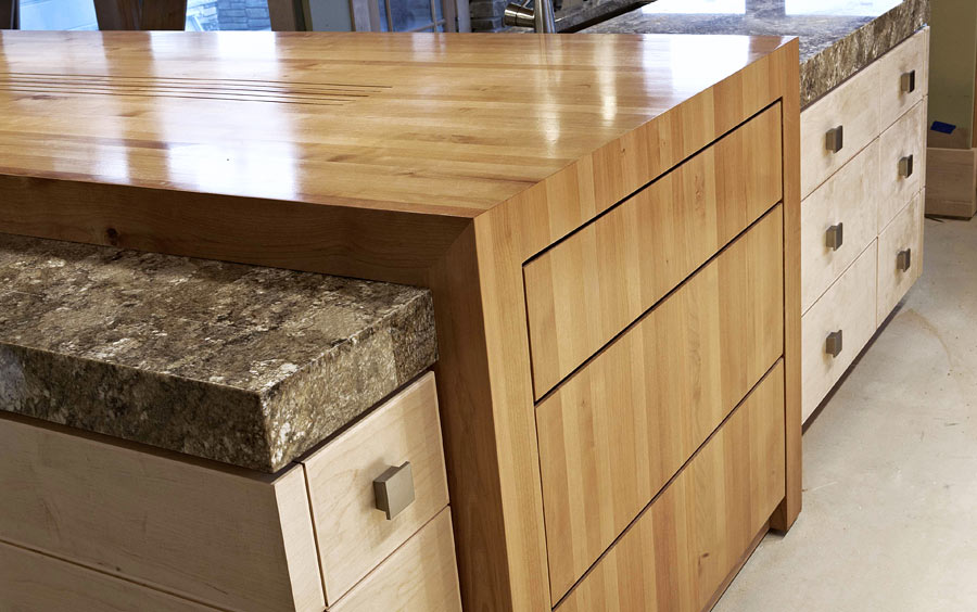 Light Alder Wood Countertop
