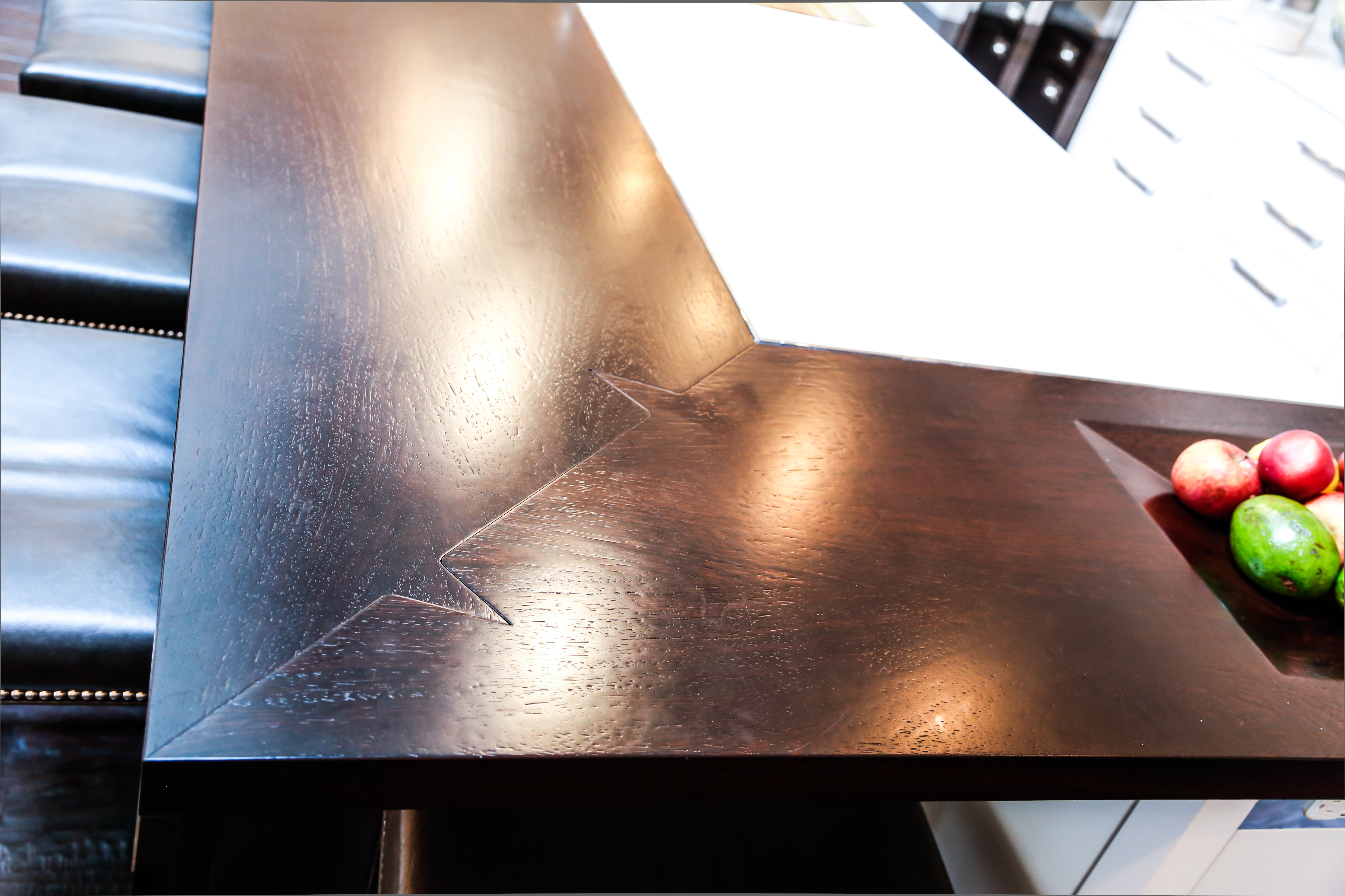 Wood Countertop with Shark Tooth Miter
