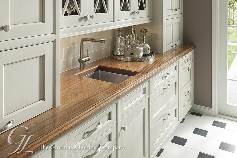 Super Distressed Wood Countertops with Sinks