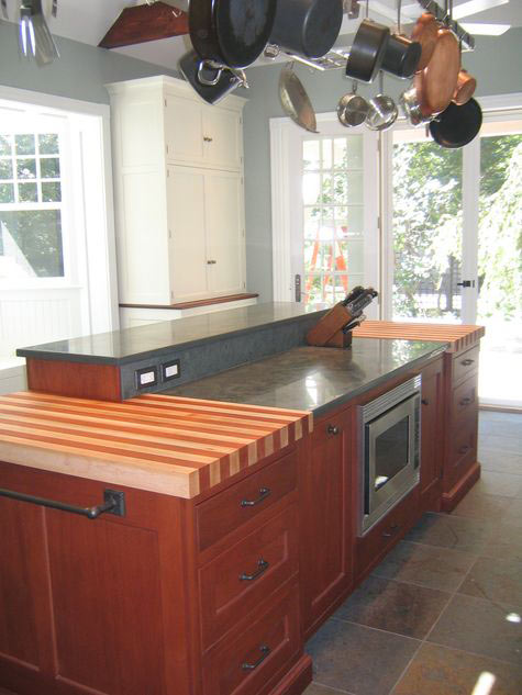 Wood Countertop Stripe Patterns