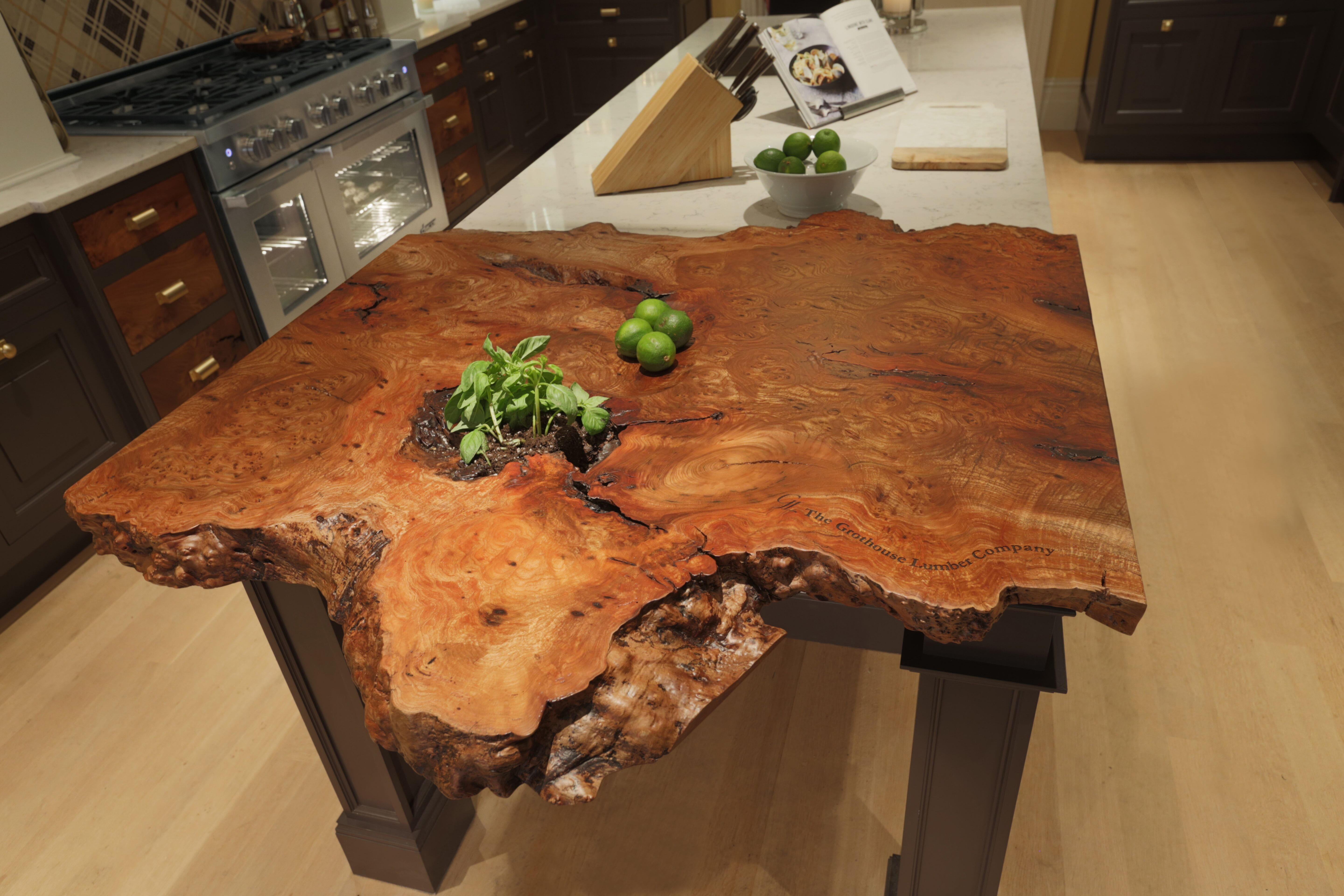 Live Edge Countertop in the 2015 Kips Bay Decorator Show House Kitchen