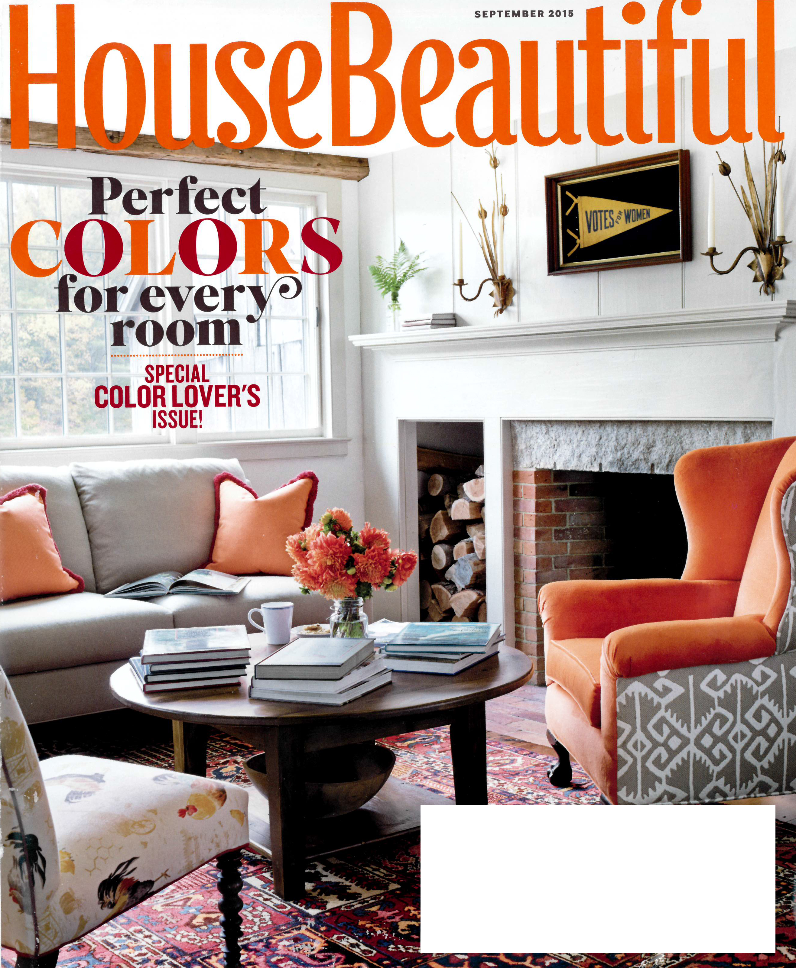 Live Edge Countertop in House Beautiful Magazine