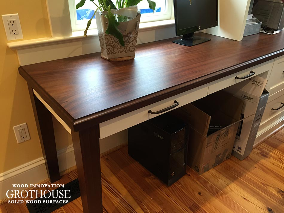 Walnut Wood Desk Tops for residential home offices