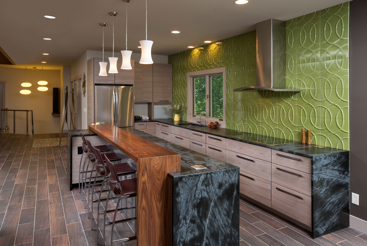 Kitchen Wood Bar Tops designed by Griffey Remodeling