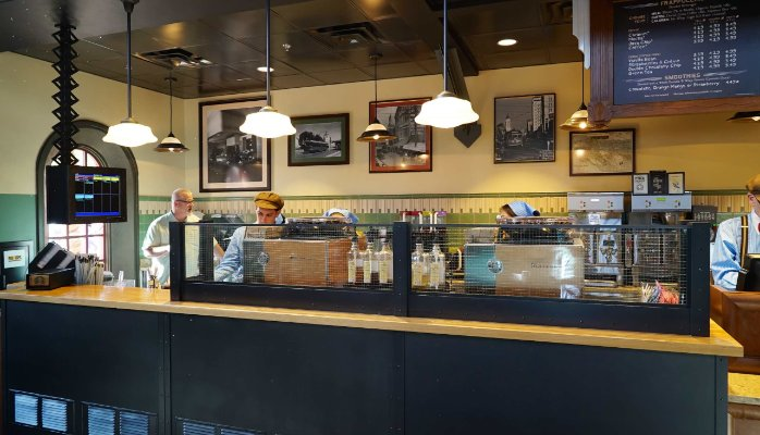 White Oak Wood Counters by Grothouse for the Trolley Car Café at Disney's Hollywood Studios®