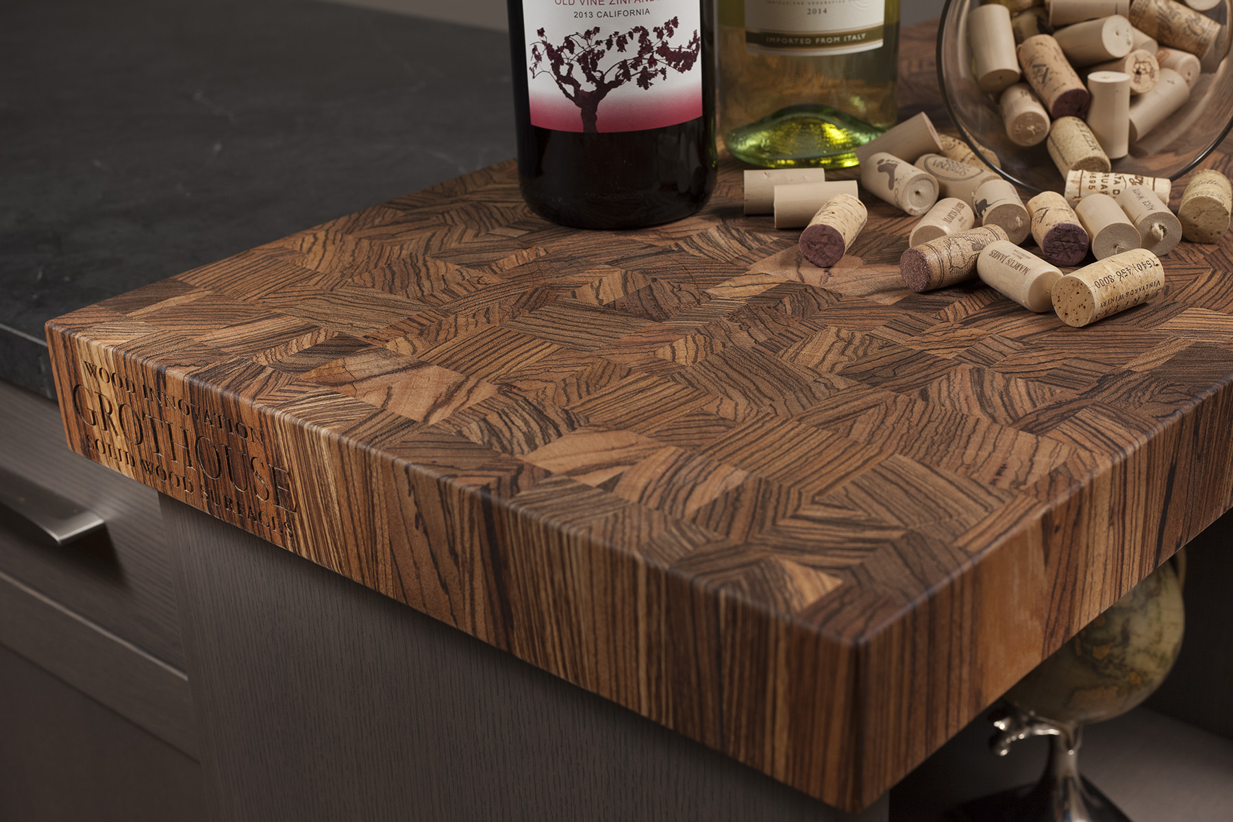 Custom Butcher Block Countertops on display