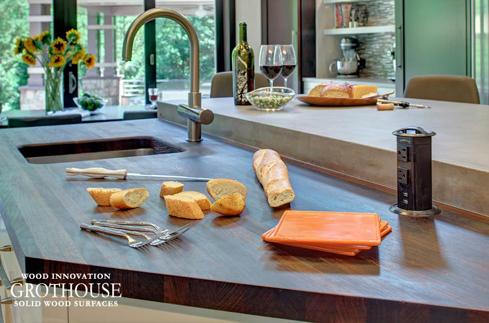 Wood Cutting Board Counter Top designed byLS Lindstrom LLC