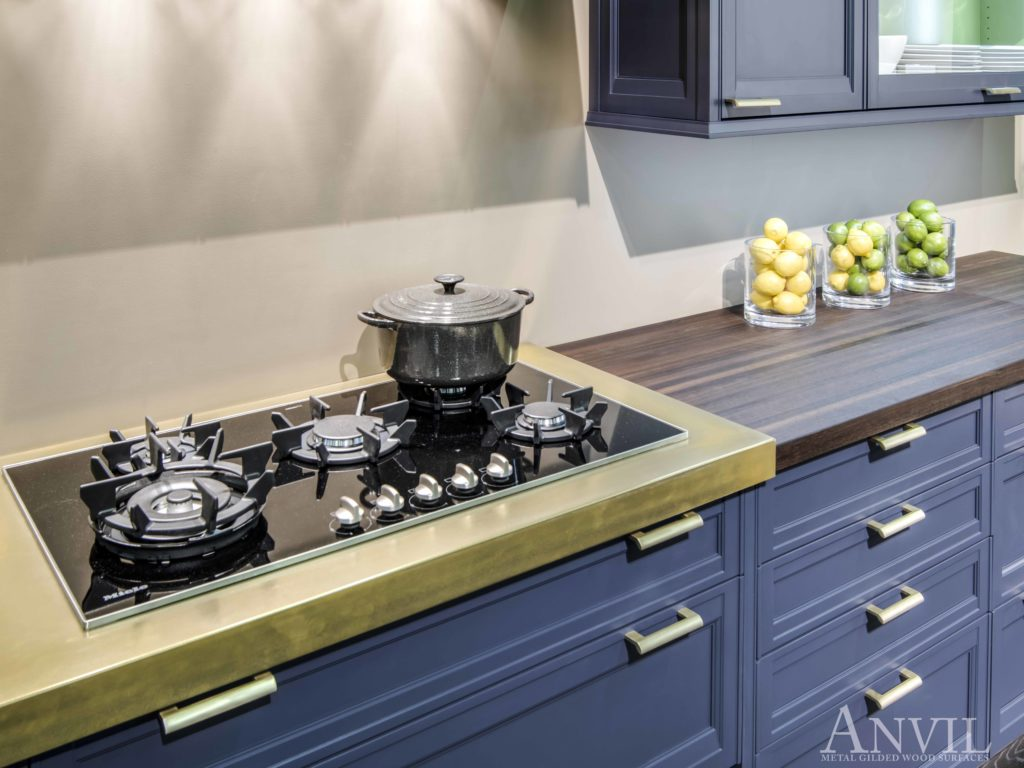 Magnum brass countertops with cook tops