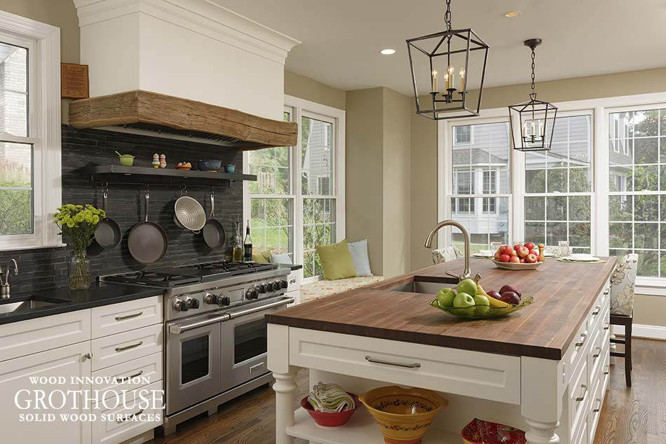 Wood Countertops for Farmhouse Style Kitchens - Wood ... on Farmhouse Counter Tops  id=93545