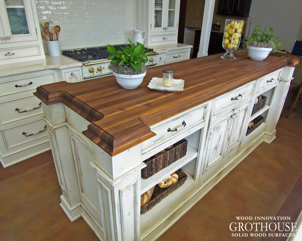 Wood Countertops for Farmhouse Style Kitchens - Wood ... on Farmhouse Counter Tops  id=64871