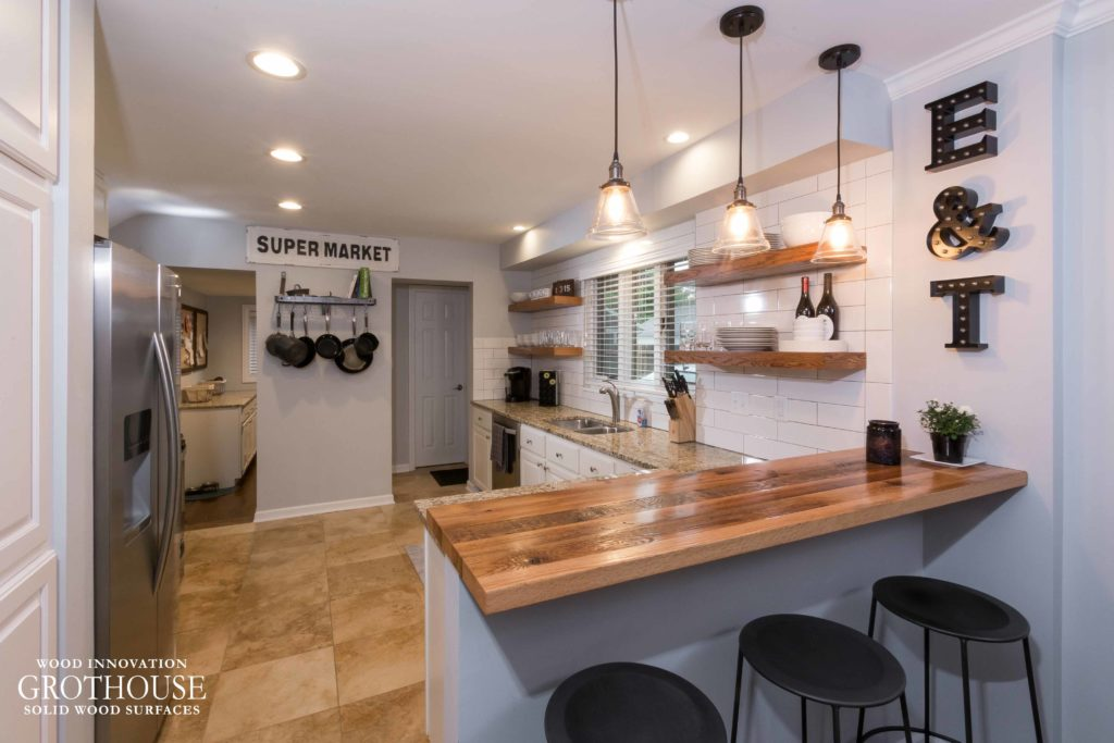 Wood Countertops for Farmhouse Style Kitchens - Wood ... on Farmhouse Countertops  id=48814