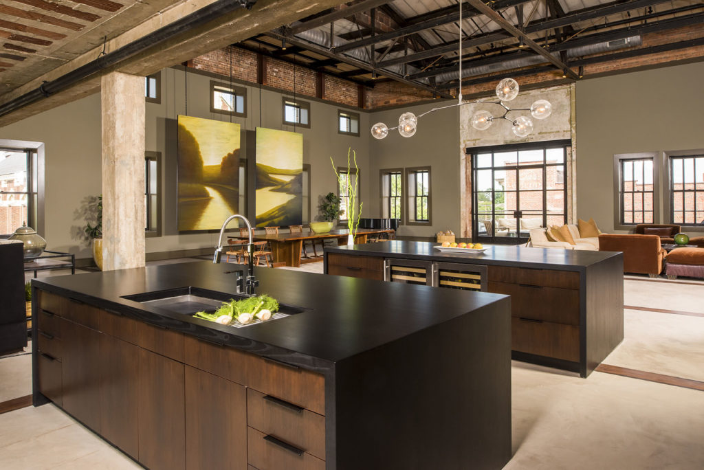 Stained Ash Wood Counters designed by Jennifer Gilmer Kitchen & Bath