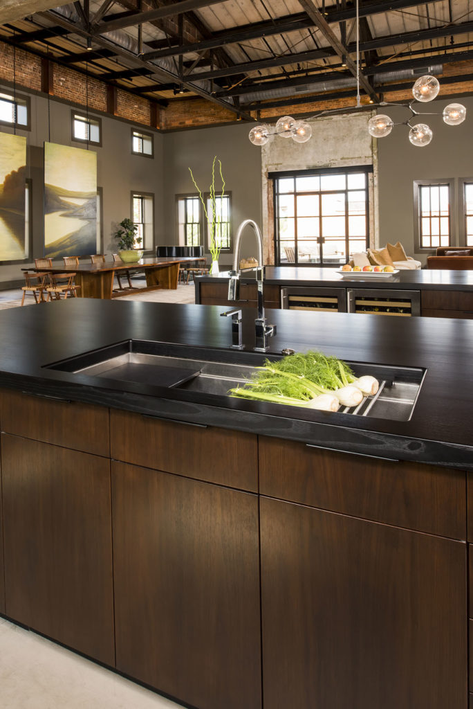 Stained Ash Wood Counters designed by Paul Bentham