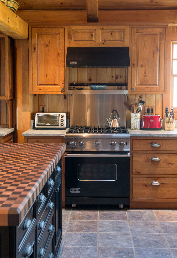 Wood Checkerboard Butcher Block designed by Foster Custom Kitchens