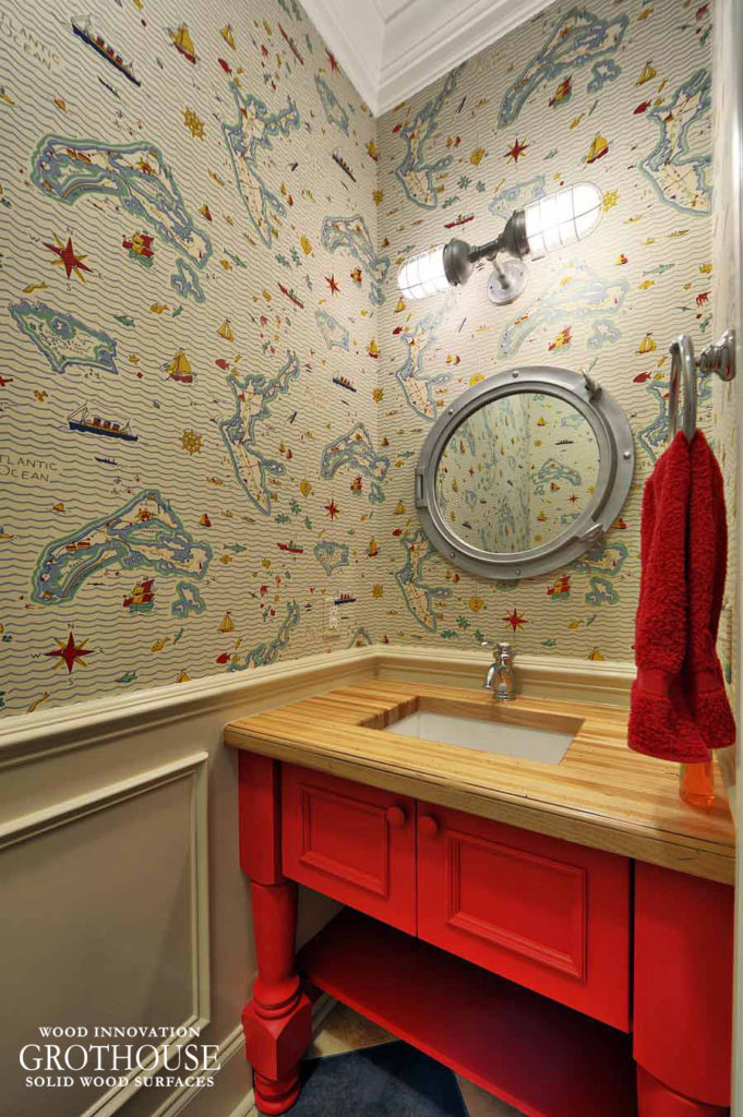 Powder Room Vanity Countertops | Design by Echelon Custom Homes