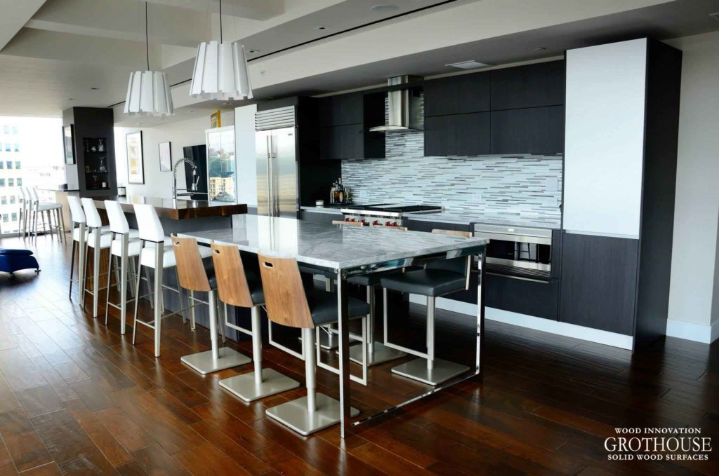 Modern Kitchen Design by Nicklas Supply features a Walnut Pastore Countertop