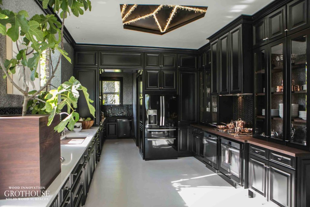 Black and White Kitchen Design by Steven Miller for House Beautiful Kitchen of the Year 2014