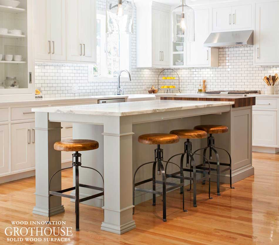 Chopping Station with Walnut Butcher Block designed by New England Design Works