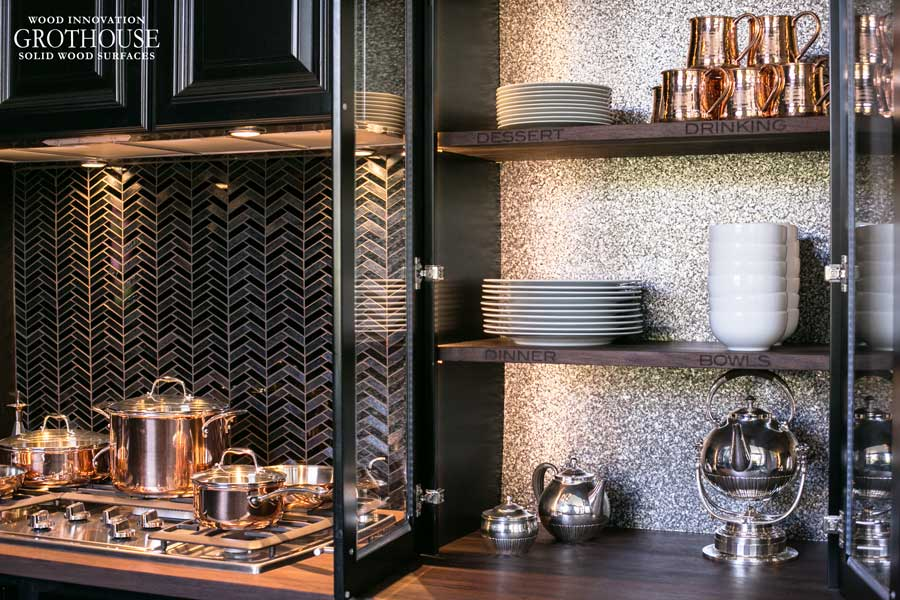 Wood Shelves for House Beautiful Kitchen of the Year 2014