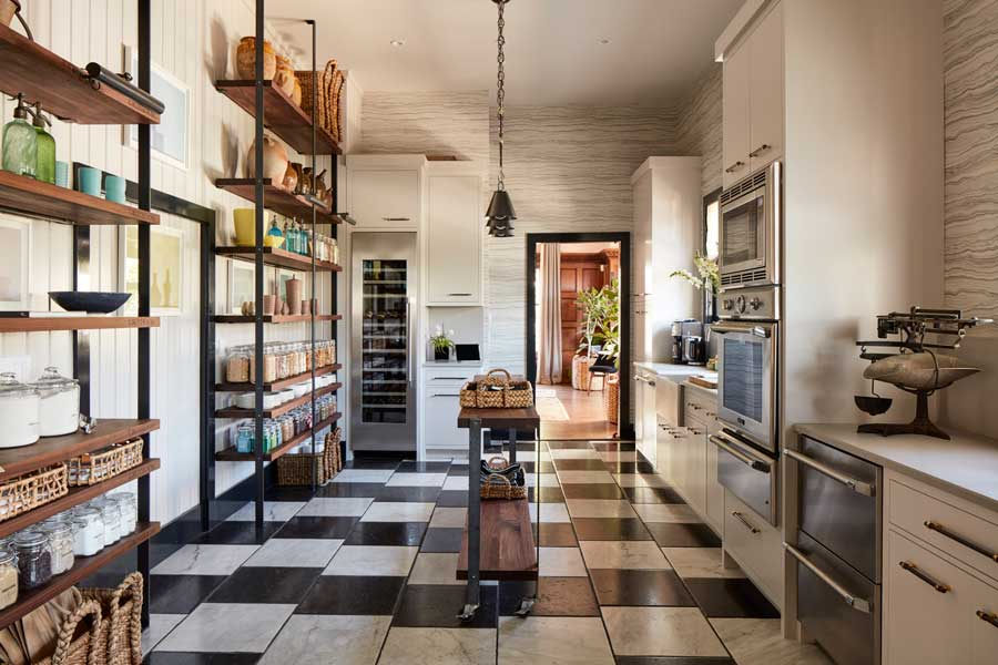 Wood Shelving for House Beautiful Kitchen of the Year 2017
