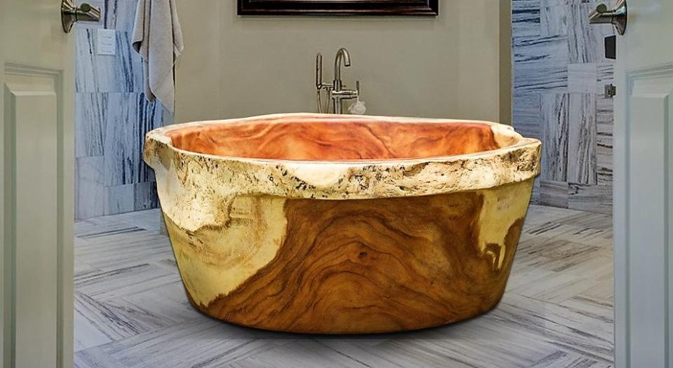 Three-ton Solid Wood Bathtub one of the latest wood innovations