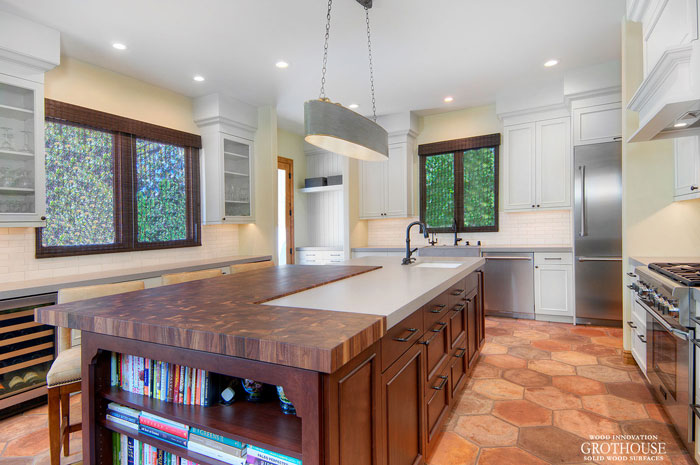 Walnut Butcher Block Kitchen Bar Top located in Los Gatos, California